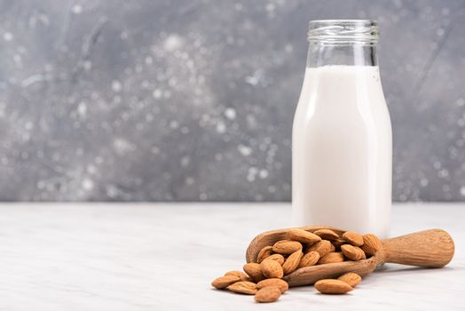 Alternative Non Dairy Almond Milk. Diet and Nutrition Concept.