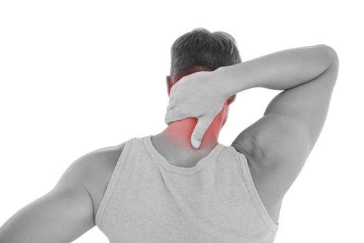 Man having a neck ache