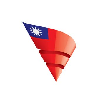 Taiwan flag, vector illustration on a white background.