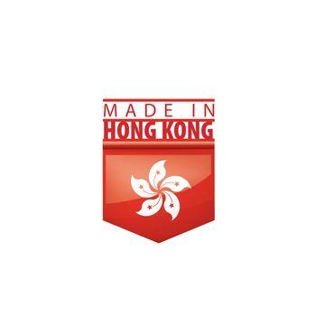 Hong Kong flag, vector illustration on a white background.