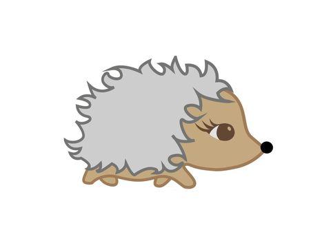 very cute hedgehog on white background - 3d rendering