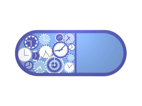 blue watches on a bandage on a white background - 3d rendering