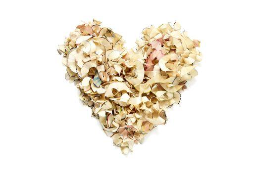 Heart Shape Made from Shavings