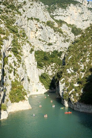 Sports activities in the Sainte-Croix lake - Verdon, France