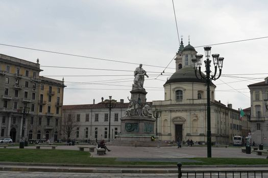 Italy, Turin - View of Carlo Emanuele II Square, March 2018