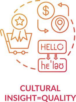 Cultural insight red concept icon