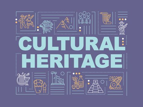 Culture and history word concepts banner