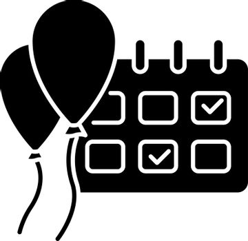 Events black glyph icon