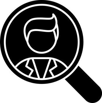 Vacancy black glyph icon