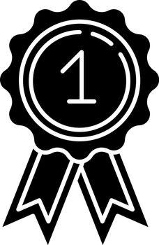 Reward black glyph icon
