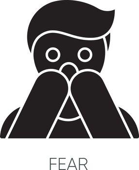 Fear black glyph icon
