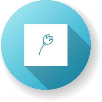 Minimalism style blue flat design long shadow glyph icon