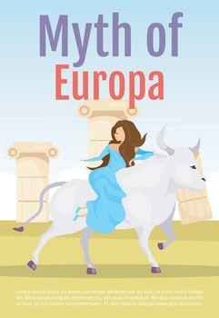 Myth of Europa brochure template