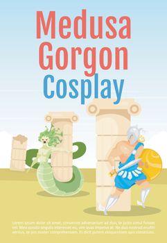 Medusa Gorgon cosplay brochure template