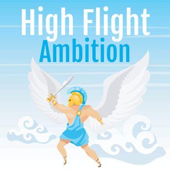 High flight ambition social media post mockup