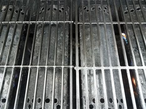 dirty or filthy black barbecue grill bars
