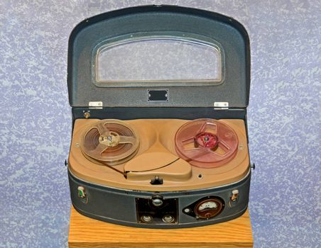 Old Soviet reporter's portable boombox 1950 release.