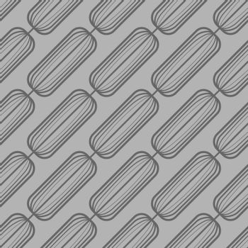 unobtrusive absract minimal grey seamless pattern with abstract linear oval rectangles