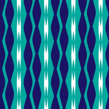 monochrome blue seamless pattern with stripes of rhombuses in 80s' style