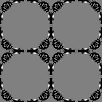 abstract gothic tribal celtic or viking seamless pattern on grey background