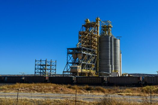 large towers for storing bulk materials in a suburb of Phoenix