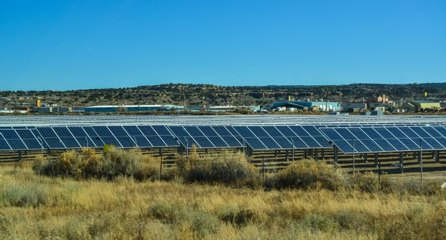 solar power station in a suburb of Phoenix