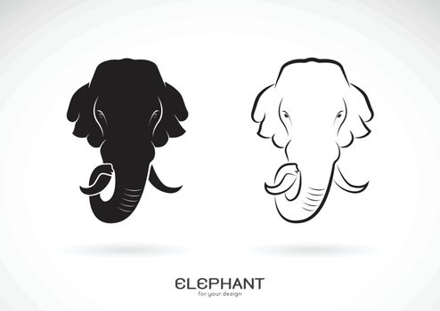 Vector of elephant head design on white background. Wild Animals. Elephants logos or icons. Easy editable layered vector illustration.