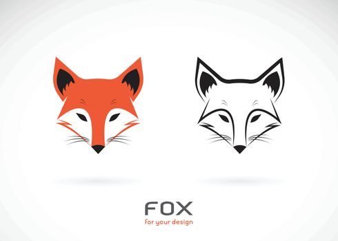 Vector of fox head design on white background., Wild Animals., Fox head logos or icons., Easy editable layered vector illustration.
