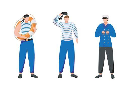Maritime occupation flat vector illustration