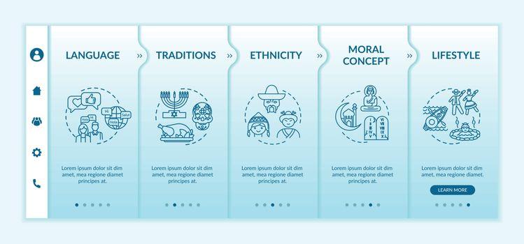 Cultural diversity onboarding vector template