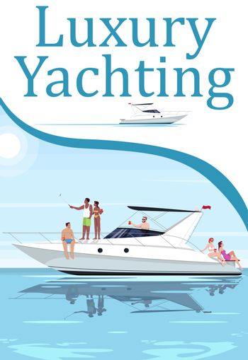 Luxury yachting poster template