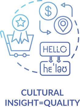 Cultural insight blue concept icon