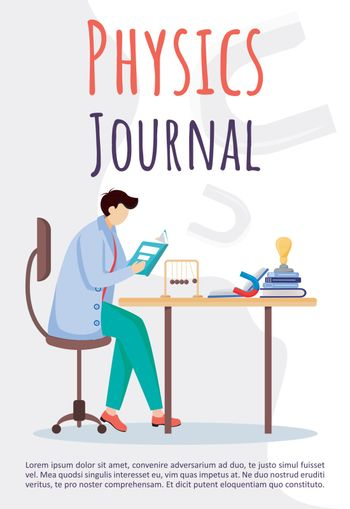 Physics journal poster vector template
