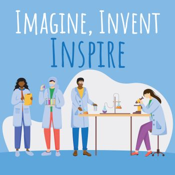 Imagine, invent, inspire social media post mockup