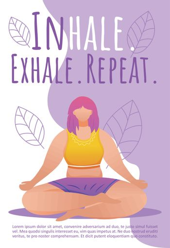 Breathing exercises brochure template