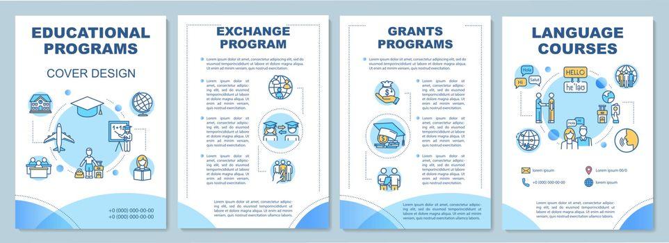 Educational program brochure template