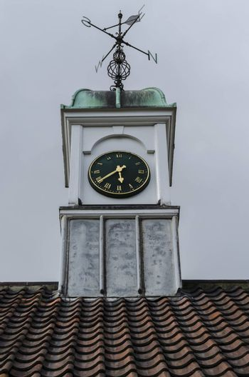 Typical English village hall clock tower