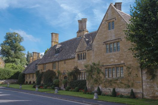 Typical honey coloured Cotswold house