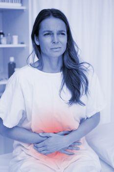 Woman having belly ache