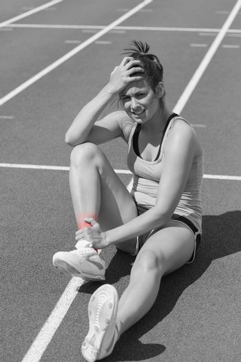 Runner with ankle injury
