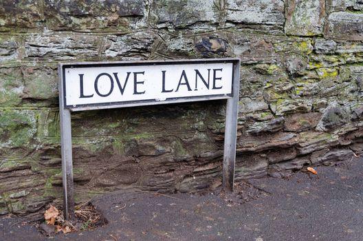 Love Lane in Mold, UK