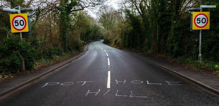 Pothole Hill in Flintshire, North Wales