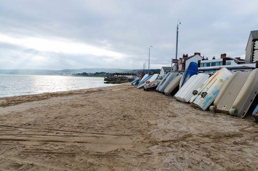 boats at Rhos on Sea