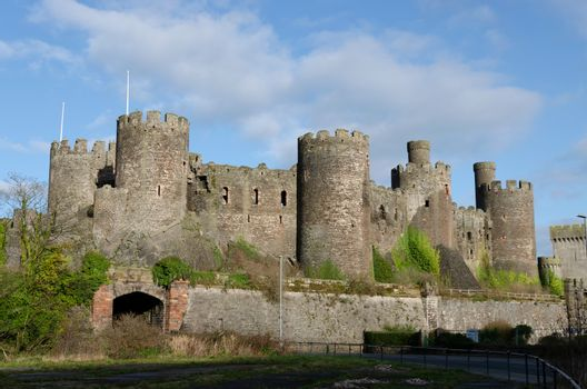 Conwy Castle form the rear
