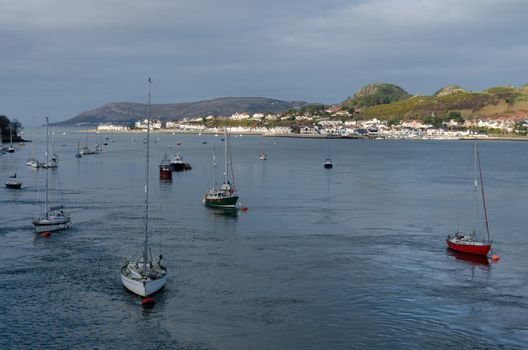View across the River Conwy towards Deganwy