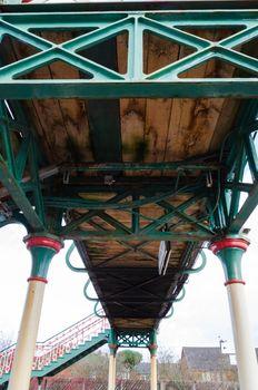 Underside of a footbridge
