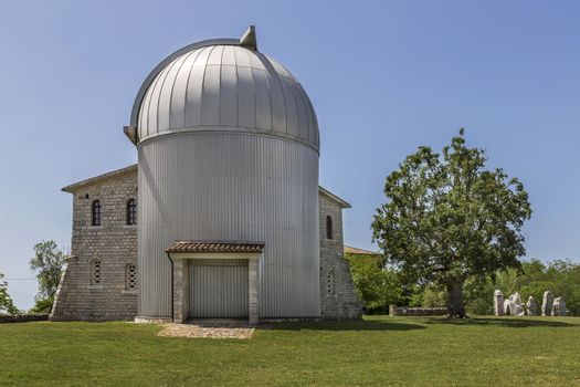 entry view of the famous observatory, Tican - Visnjan, Istria, Croatia