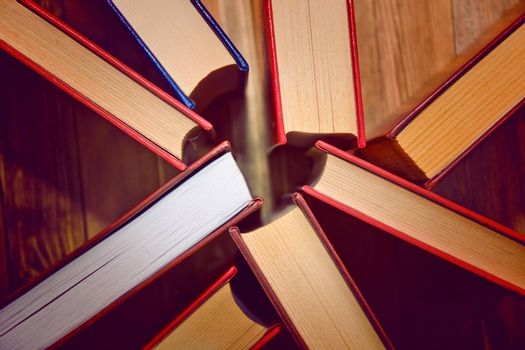 Power of wisdom. Books. Knowledge and education conceptual image.