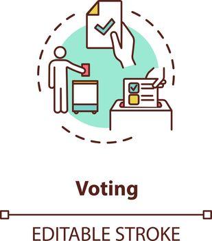 Voting concept icon