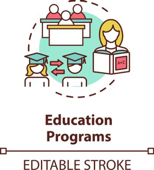 Educational programs concept icon